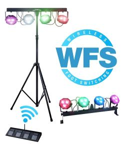 KAM Power Party Bar WFS LED Flood Lighting Band DJ Stand & Wireless FootSwitch