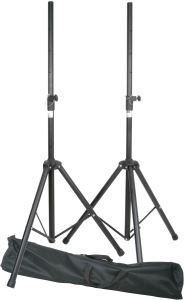 QTX Pair Heavy Duty Speaker Stands with bag (180.550UK)