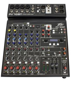 Peavey PV 10 BT Bluetooth Mixer Mixing Desk 10 Channel