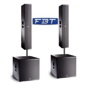 FBT Vertus Large PA System CLA 118SA CLA 406A Twin Stack 4200w Line Array Band