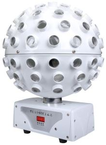 KAM Stratosphere Ghost (White) 5 x 15-watt RGBWAUV 6in1 LEDs Mirror Ball Style Disco Lighting Effect
