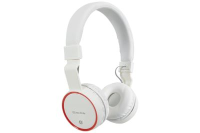 AV:Link 100.551 PBH10 Wht Bluetooth Headphones Wireless Music SD Card Noise Cancelling