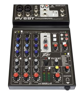 Peavey PV 6 BT Bluetooth Mixer Mixing Desk 6 Channel PV6BT
